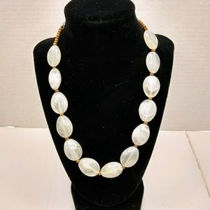 Jewelry - Chunky translucent white beaded necklace